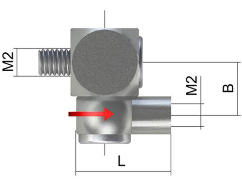 Knuckle joint, M2, rotating product photo IMT Front 1 View L