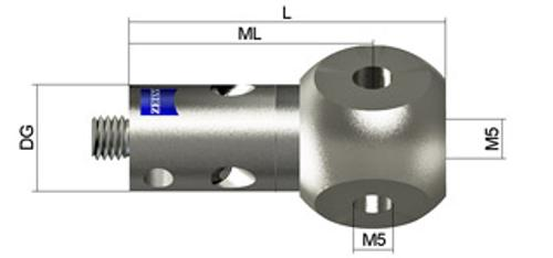 Rotary joint, M5 system, 3 x M5 product photo
