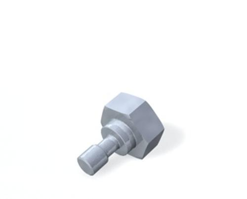 Screw for stylus disk, M5 product photo Back View L